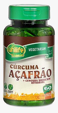 Cúrcuma Açafrão - 60 cápsulas - Unilife Vitamins