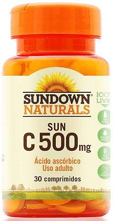 Sun C 500mg - 30 comprimidos - Sundown Naturals