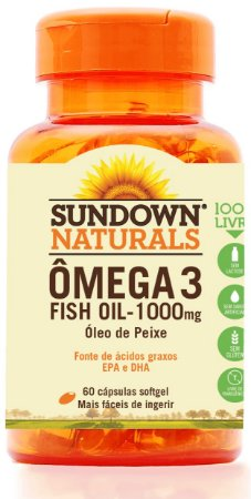 Ômega 3 Fish Oil 1000mg - 60 cápsulas - Sundown Naturals