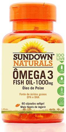 Ômega 3 Fish Oil 1000mg - 60 cápsulas - Sundown Naturals