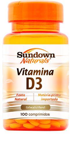 Vitamina D3 - 100 comprimidos - Sundown Naturals