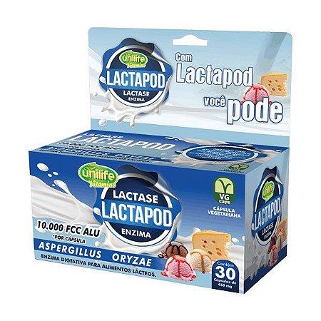 Lactapod Lactase 10000 FCC ALU - 30 cápsulas - Unilife Vitamins