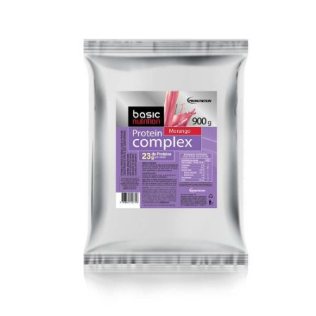 Protein Complex - 900g - Morango - Basic Nutrition