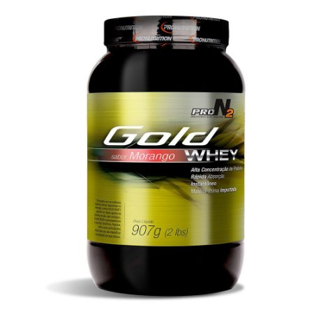 Gold Whey - 900g - Morango - ProN2