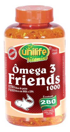 Ômega 3 Friends 1000 - 280 cápsulas - Unilife Vitamins