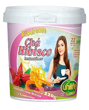 Chá de Hibisco Instantâneo - 220g - Unilife Vitamins