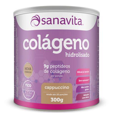 Colágeno Hidrolisado - 300g - Cappuccino - Sanavita