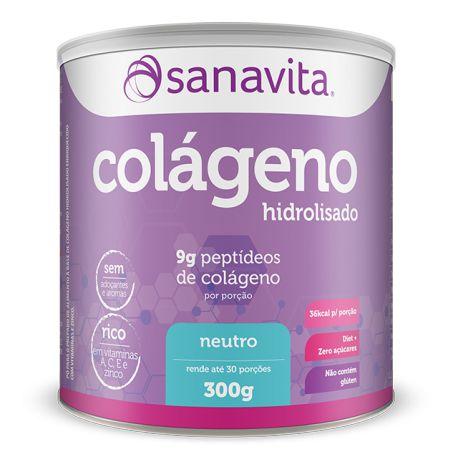 Colágeno Hidrolisado - 300g - Neutro - Sanavita