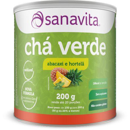 Chá Verde - 200g - Abacaxi e hortelã - Sanavita