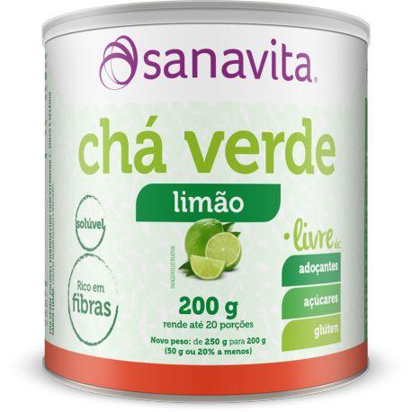 Chá Verde - 200g - Limão - Sanavita