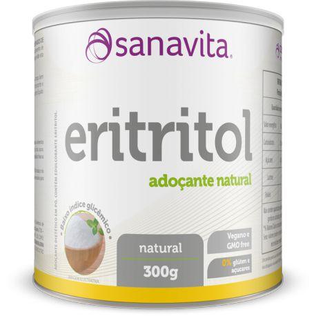 Eritritol Adoçante - 300g - Natural - Sanavita
