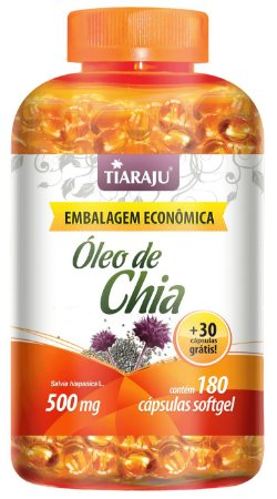 Óleo de Chia - 180+30 cápsulas - Tiaraju