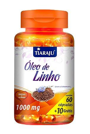 Óleo de Linho - 60+10 cápsulas - Tiaraju
