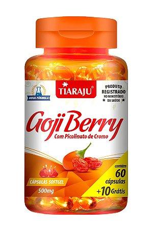 Goji Berry com Picolinato de Cromo - 60+10 cápsulas - Tiaraju