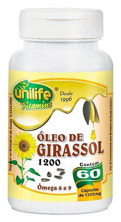 Óleo de Girassol 1200 - 60 cápsulas - Unilife Vitamins