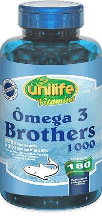 Ômega 3 Brothers 1000 - 180 cápsulas - Unilife Vitamins