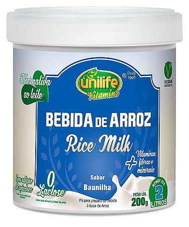 Bebida de Arroz Rice Milk - 200g - Baunilha - Unilife Vitamins