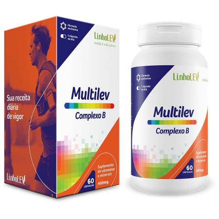 Multilev Complexo B - 60 cápsulas - LinhoLEV