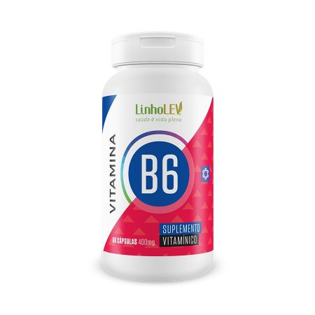 Vitamina B6 - 60 cápsulas - LinhoLEV