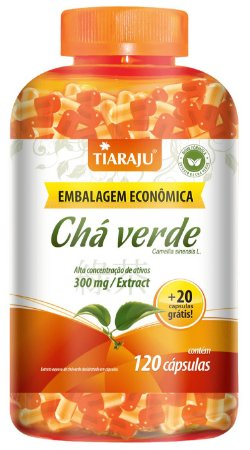 Chá Verde - 120+20 cápsulas - Tiaraju