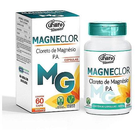 Magneclor Cloreto de Magnésio P.A. - 120 cápsulas - Unilife Vitamins
