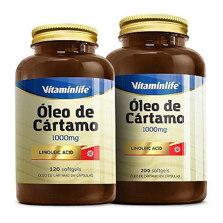Óleo de Cártamo 1000mg - 200 cápsulas - Vitaminlife
