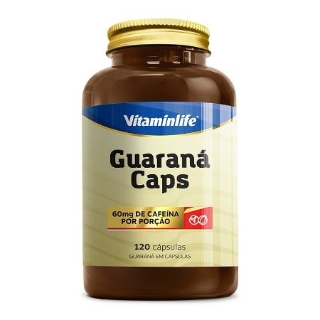 Guaraná Caps - 120 cápsulas - Vitaminlife