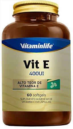 Vit E 400UI - 60 cápsulas - Vitaminlife