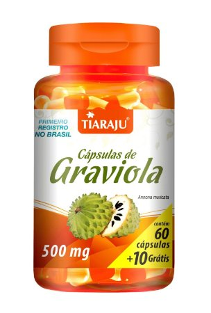 Cápsulas de Graviola - 60+10 cápsulas - Tiaraju