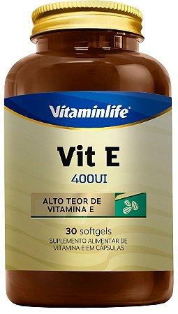 Vit E 400UI - 30 cápsulas - Vitaminlife