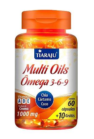 Multi Oils Ômega 3-6-9 - 60+10 cápsulas - Tiaraju