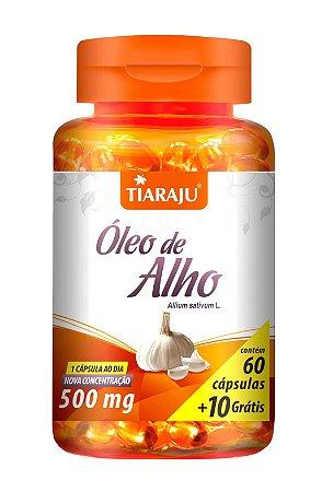Óleo de Alho 500mg - 60+10 cápsulas - Tiaraju