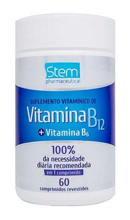 Vitamina B12 + Vitamina B6 - 60 comprimidos - Stem Pharmaceutical