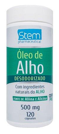 Óleo de Alho Desodorizado - 120 cápsulas - Stem Pharmaceutical