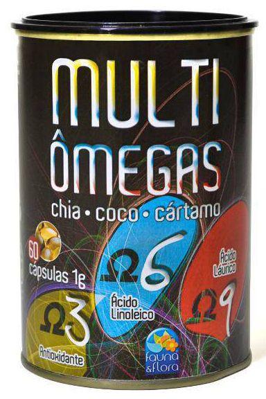 Multi Ômegas - 60 cápsulas - Fauna & Flora