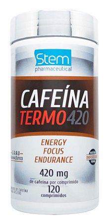 Cafeína Termo 420 - 120 comprimidos - Stem Pharmaceutical