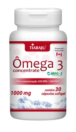 Ômega 3 Concentrate - 30 cápsulas - Tiaraju