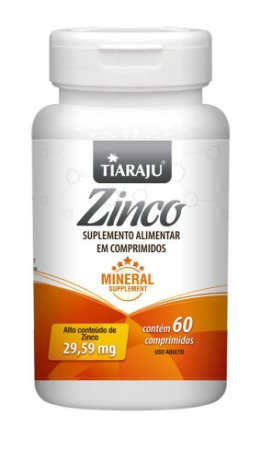 Zinco 29,59 mg - 60 comprimidos - Tiaraju