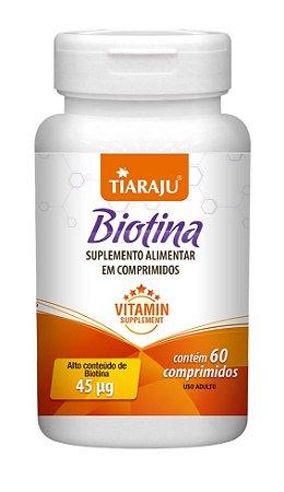 Biotina 45 mcg - 60 comprimidos - Tiaraju