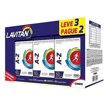 Kit A-Z - 3 frascos de 60 comprimidos - Lavitan Vitaminas