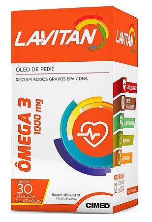 Ômega 3 1000mg - 30 cápsulas - Lavitan Vitaminas