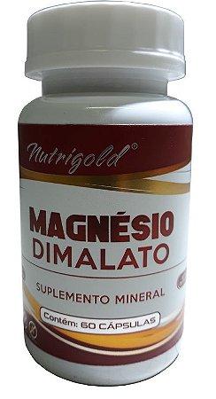 Magnésio Dimalato - 60 cápsulas - Nutrigold