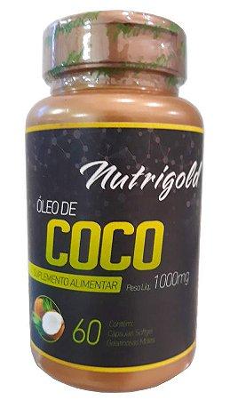 Óleo de Coco 1000mg - 60 cápsulas - Nutrigold