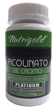 Picolinato de Cromo Platinum - 180 comprimidos - Nutrigold