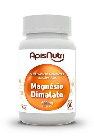 Magnésio Dimalato - 60 cápsulas - Apisnutri