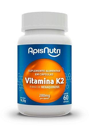 Vitamina K2 - 60 cápsulas - Apisnutri