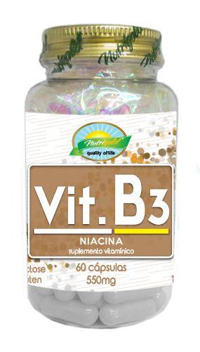 Vit B3 Niacina - 60 cápsulas - Nutrigold