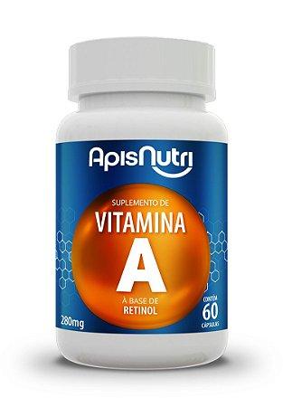 Vitamina A Retinol - 60 cápsulas - Apisnutri