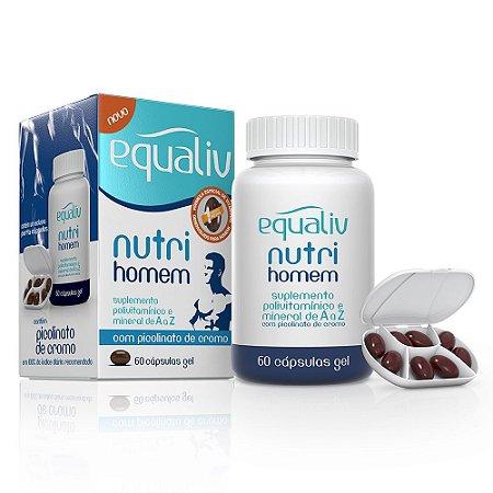 Nutri Homem Polivitamínico - 60 cápsulas - Equaliv