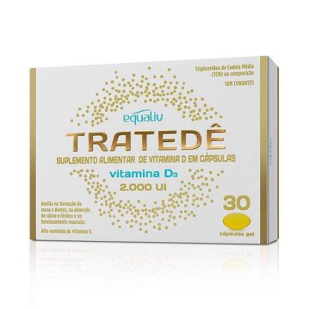 Tratedê Vitamina D3 2000UI - 30 cápsulas - Equaliv